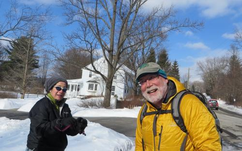 Snowshoeing in Litchfield Connecticut to Haight Brown Vineyard